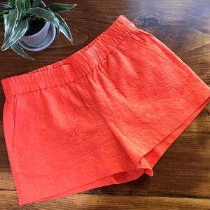 J Crew Factory Orange Jacquard Shorts SIZE 4